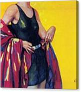 Elida Cremes In Sonne Und See - Woman In Swimsuit - Vintage Advertising Poster Canvas Print