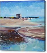 Elie Beach 2018 Oil Canvas Print