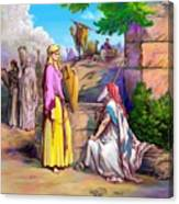 Eliezer N Rebekah Canvas Print