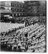 Elijah Muhammad Addressing An Assembly Canvas Print
