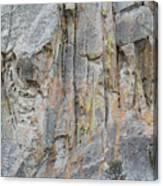 Elijah Weber Climbs A Route Called Thin Slice  Canvas Print