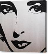 Elizabeth Taylor Diams Canvas Print