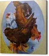 Elizabeth's Chickens Canvas Print