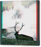 Elk - Use Red-cyan 3d Glasses Canvas Print