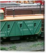 Elk Gorge And Western Caboose Canvas Print