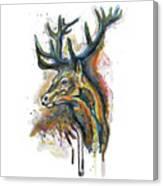 Elk Head Canvas Print