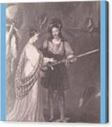 Ellen Douglas And Fitz James Canvas Print