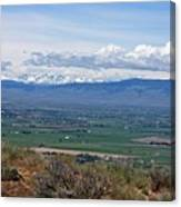 Ellensburg Valley With Sagebrush And Lupine Canvas Print