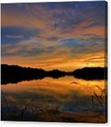 Ellenton Lake Sunset 02 Canvas Print