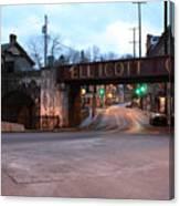 Ellicott City Nights - Entrance To Main Street Canvas Print