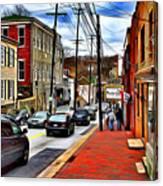 Ellicott City Sidewalk Canvas Print