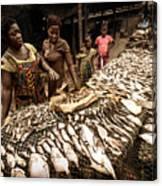 Elmina Fish Sellers Canvas Print