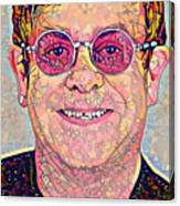 Elton John Triangles Portrait Canvas Print