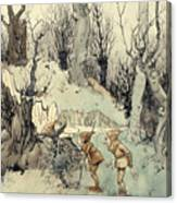 Elves In A Wood Canvas Print