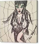 Elvira Mistress Of The Dark Canvas Print