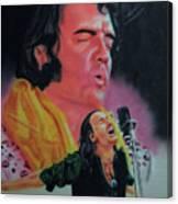 Elvis And Jon Canvas Print