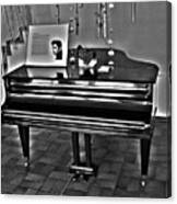 Elvis And The Black Piano ... Canvas Print
