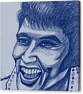 Elvis In Blue Canvas Print