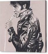 Elvis In Charcoal #177, No Title Canvas Print