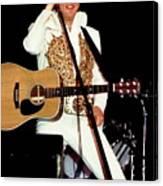 Elvis In Concert Canvas Print