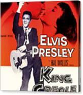 Elvis Presley In King Creole 1958 Canvas Print