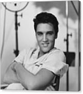 Elvis Presley On Set During Movie Making Canvas Print