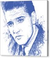 Elvis Presley Portrait Canvas Print