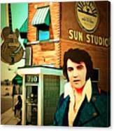 Elvis Presley The King At Sun Studio Memphis Tennessee 20160216 Square Canvas Print