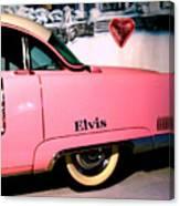 Elvis's Pink Cadillac Canvas Print