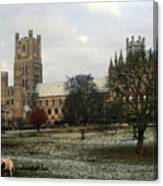 Ely Cambridgeshire, Uk.  Ely Cathedral  Canvas Print