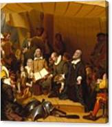 Embarkation Of The Pilgrims Canvas Print