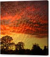 Embossed Sunrise Canvas Print