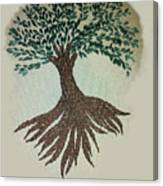 Embroidered Tree Canvas Print