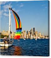 Emerald City Sail Canvas Print