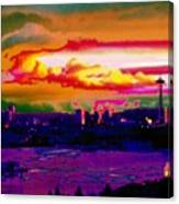 Emerald City Sunset Canvas Print