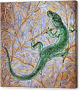 Emerald Lizard Canvas Print
