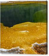 Emerald Pool Yellowstone National Park Canvas Print