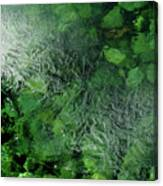 Emeralds Under Ice Canvas Print