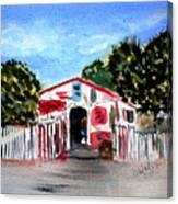 Emiles Road Side Grocer Canvas Print