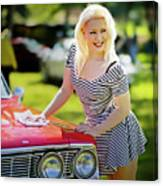 Emily #3 Royal Holden Canvas Print