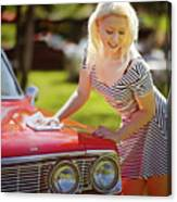 Emily #4 Royal Holden Canvas Print