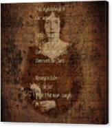 Emily Dickinson 4 Canvas Print