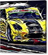 Emily Linscott On The Racetrack - Ginetta Junior Championship Canvas Print