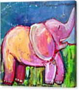 Emily's Elephant 2 Canvas Print