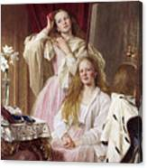Emma And Federica Bankes Of Soughton Hall  Canvas Print