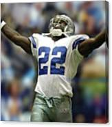 Emmitt Smith, Number 22, Running Back, Dallas Cowboys Canvas Print