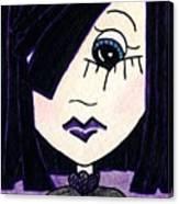 Emo Girl Iv Canvas Print