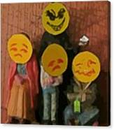 Emoji Family Victims Of Substance Abuse Canvas Print