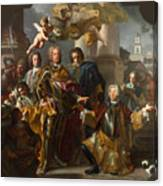 Emperor Charles Vi And Gundacker, Count Althann Canvas Print