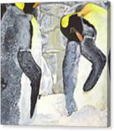 Emperors Of The Antarctic Canvas Print